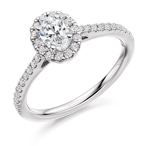 Oval Cut Halo Engagement Ring