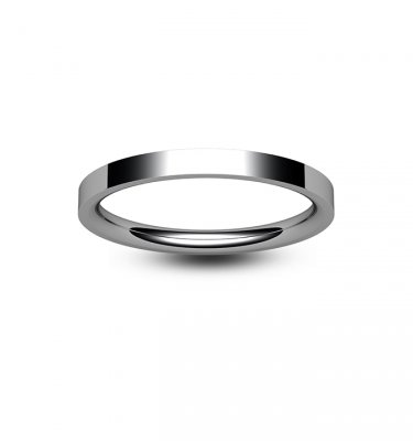 Platinum Flat Court Wedding Ring