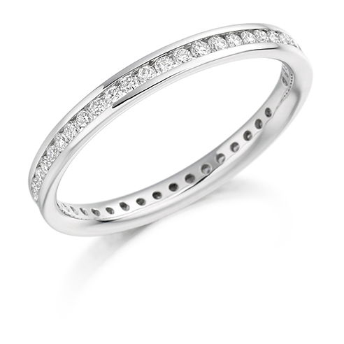 Full Round Brilliant Channel Set Diamond Ring
