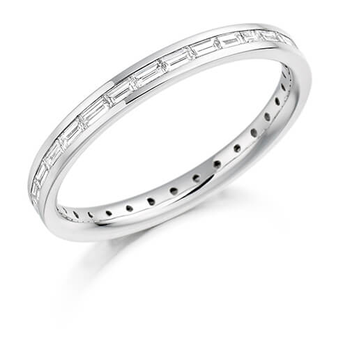 Full Baguette Channel Set Diamond Ring