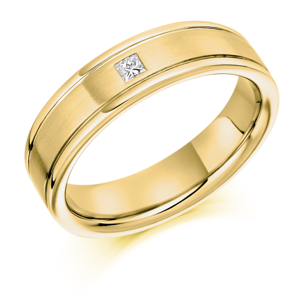 Men's Princess Cut Diamond Ring