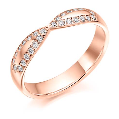 Grain Set Shaped Diamond Ring