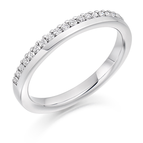 Offset Claw Diamond Ring