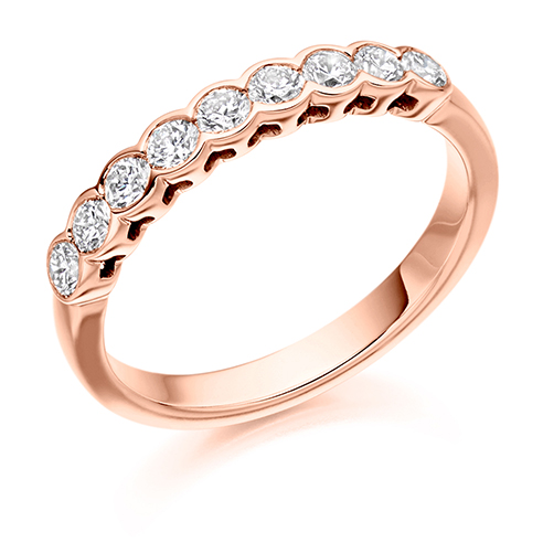 0.50ct Rub-over Diamond Ring