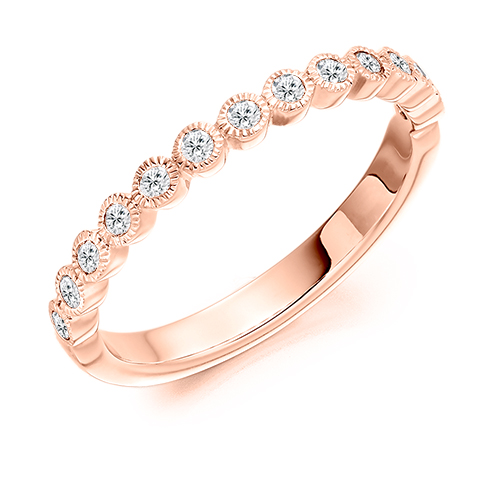 Milgrain Edge Bezel Set Diamond Ring