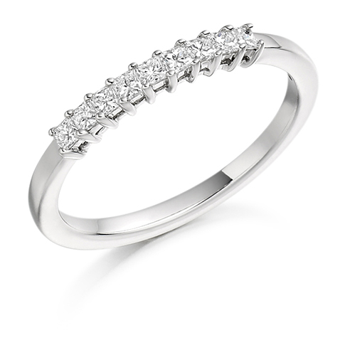 Princess Cut Claw Set Diamond Ring