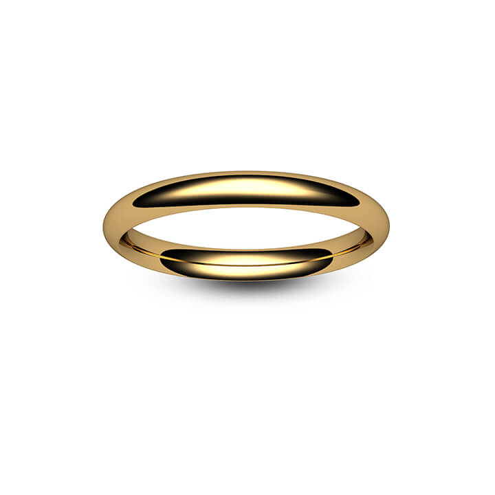9ct Yellow Gold Traditional Court Wedding Ring