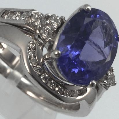 Shaped Diamond Wedding Ring by Bijoux Jewels
