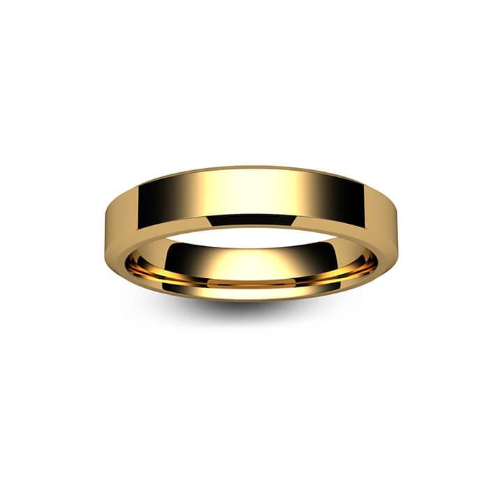 9ct Rose Gold Chamfered Edge Wedding Ring