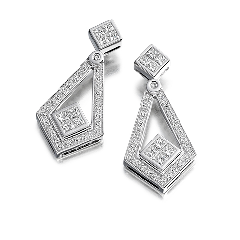 Diamond Deco Earrings