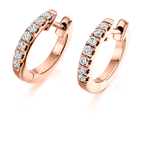 Claw Set Diamond Huggie Earring