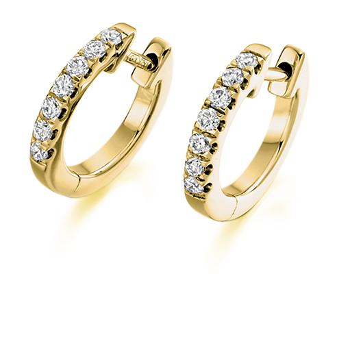 Claw Set Diamond Huggie Earring