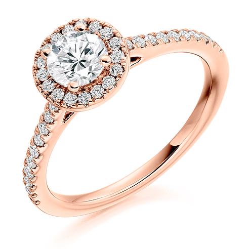 Round Brilliant Halo Engagement Ring