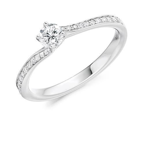 Round Brilliant Twist Engagement Ring
