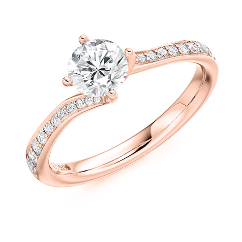 Round Brilliant Twist Engagement Ring