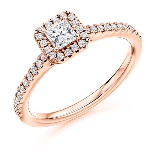 Princess Cut Halo Engagement Ring