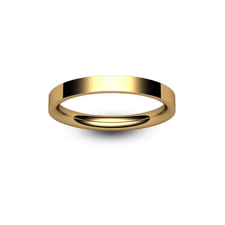 18ct Yellow Gold Flat Court Wedding Ring