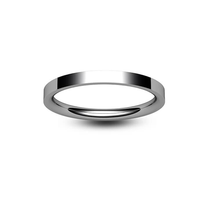 Palladium Flat Court Wedding Ring