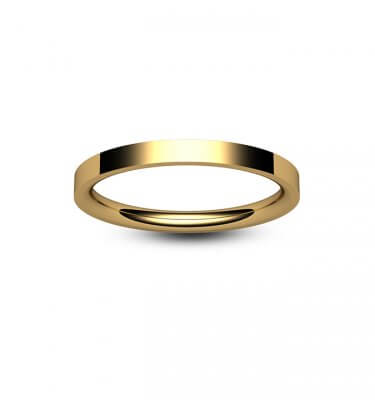 9ct Rose Gold Flat Court Wedding Ring