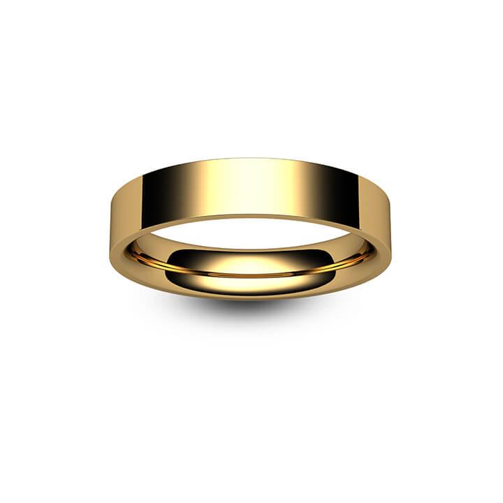 9ct Rose Gold Flat Court Wedding Ring