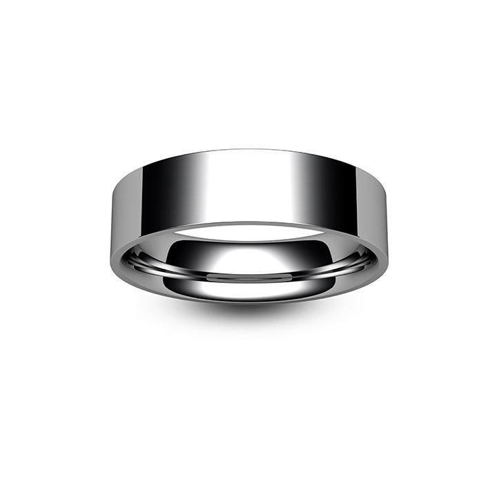 Platinum Flat Court Wedding Ring