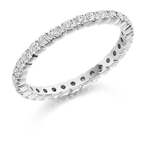 Full Set Shared Claw Diamond Ring