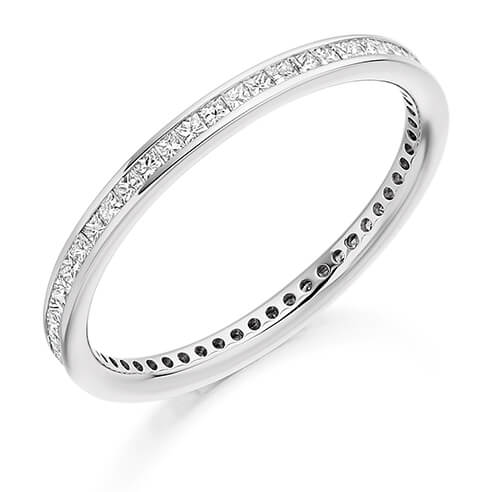 Full Princess Cut Channel Set Diamond Ring