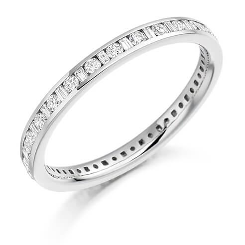 Full Set Mixed Cut Diamond Ring