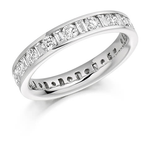 Full Set Mixed Cut Diamond Ring