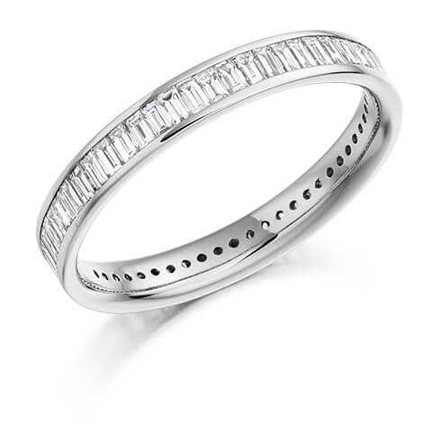 Full Baguette Channel Set Diamond Ring