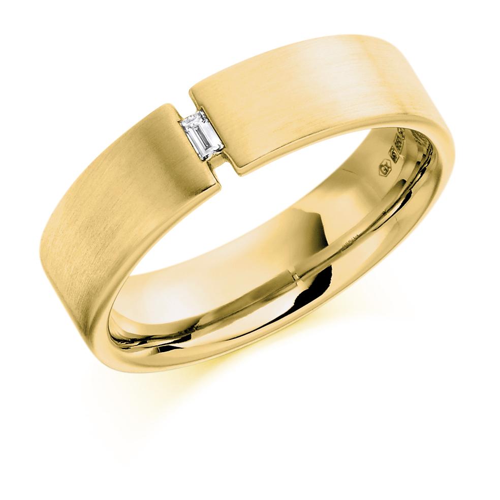 Men's Baguette Cut Tension Style Diamond Ring