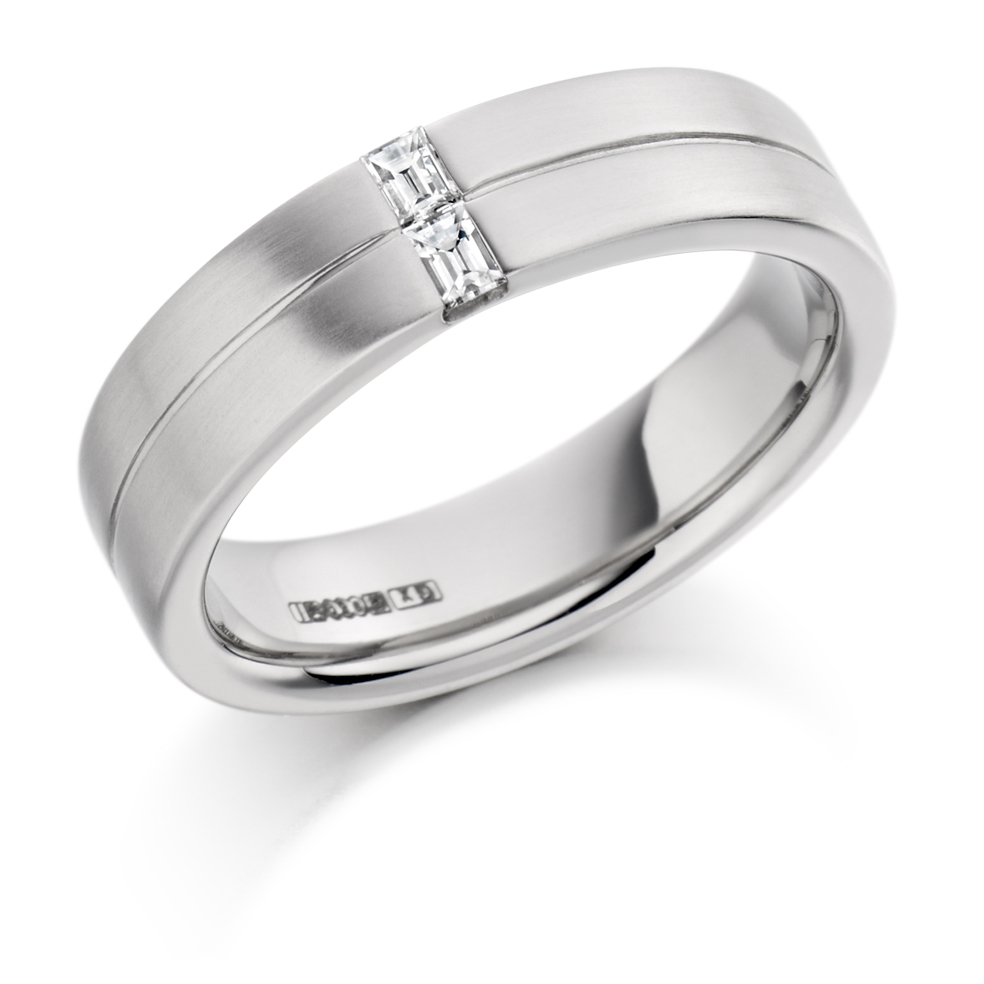 Men's Baguette Cut Diamond Ring