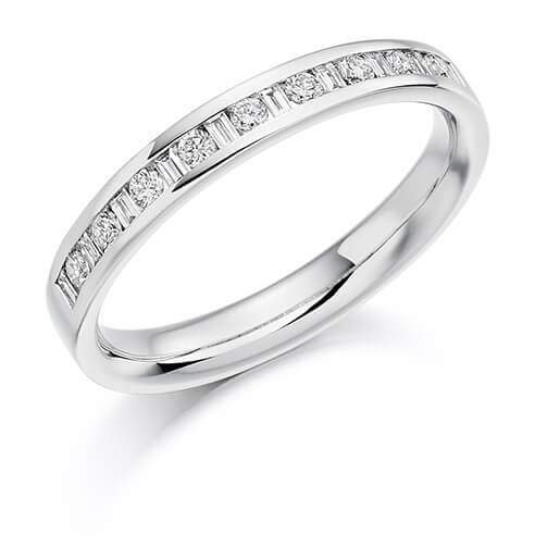 Half Set Mixed Cut Diamond Ring