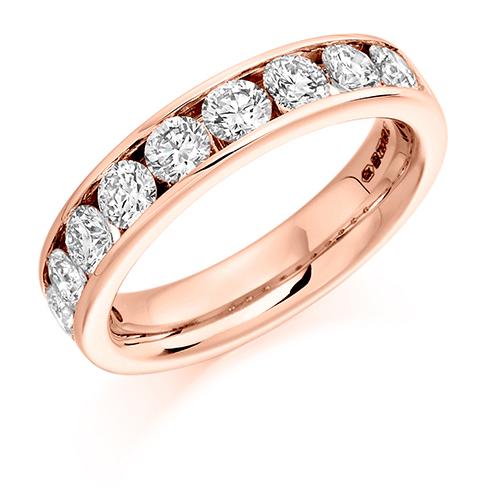 Half Round Brilliant Channel Set Diamond Ring