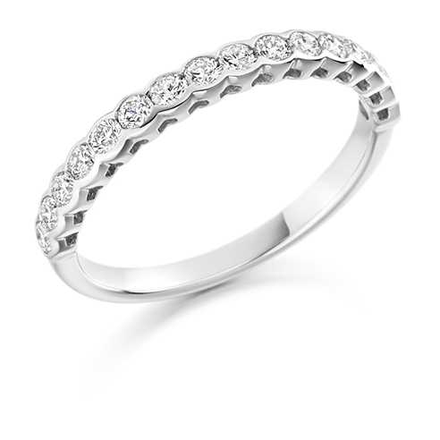 Half Set Rub-over Diamond Ring