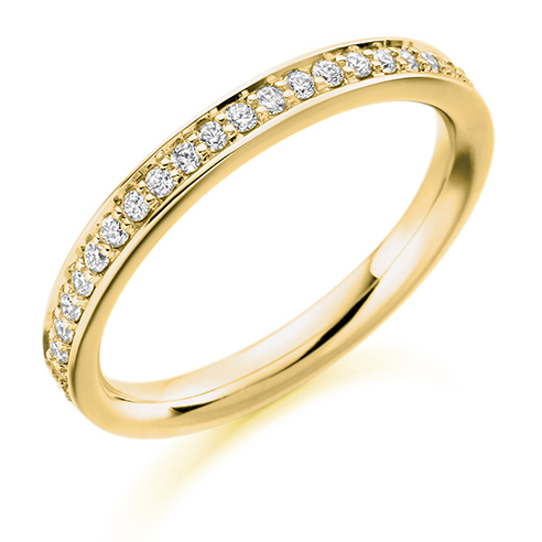 Vintage Grain Set Diamond Ring