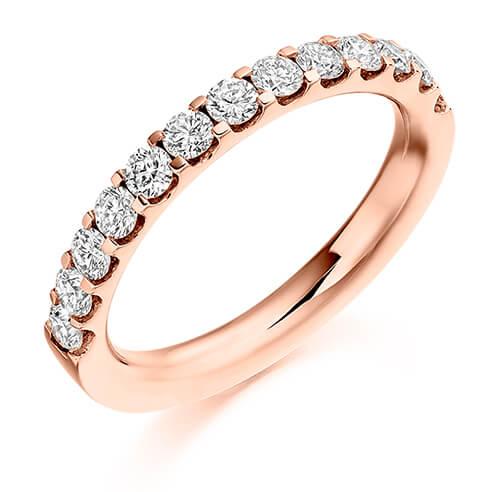 Half Set Round Diamond Ring