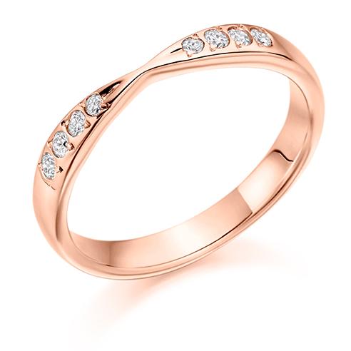 Grain Set Twist Diamond Ring