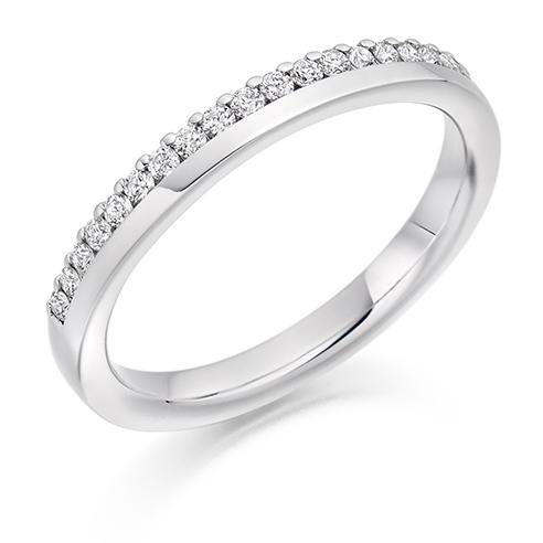 Offset Claw Diamond Ring