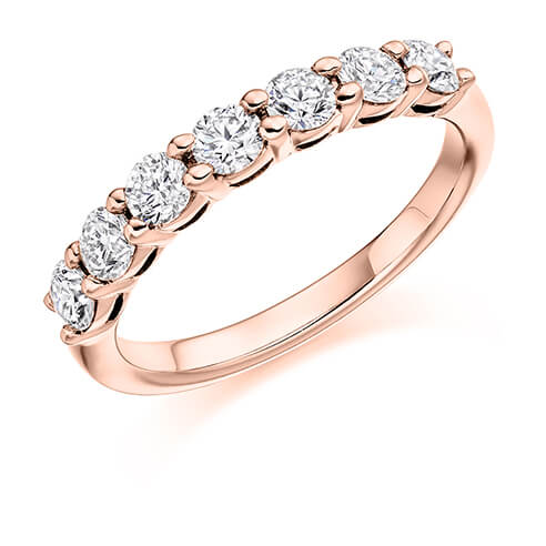 Half Set Shared Claw Diamond Ring