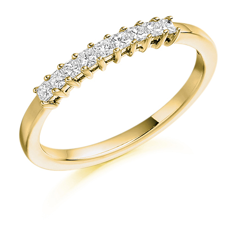 Princess Cut Claw Set Diamond Ring