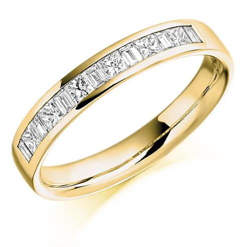 Half Set Mixed Cut Diamond Ring