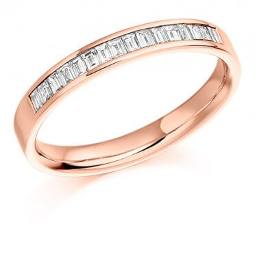 Half Baguette Channel Set Diamond Ring