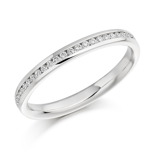 Half Round Brilliant Channel Set Diamond Ring