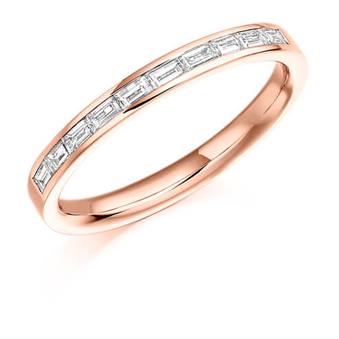 Half Baguette Channel Set Diamond Ring