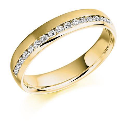 0.26ct Offset Diamond Ring