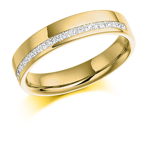 Princess Cut Offset Diamond Ring
