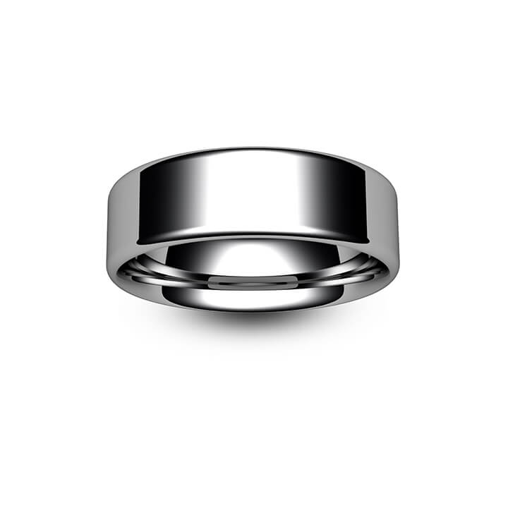 Palladium Modern Flat Court Wedding Ring