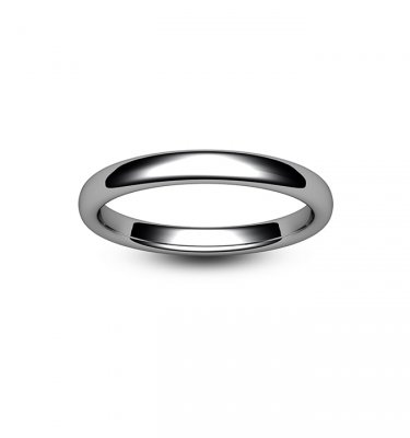 Platinum Slight Court Wedding Ring
