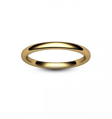 9ct Yellow Gold Slight Court Wedding Ring